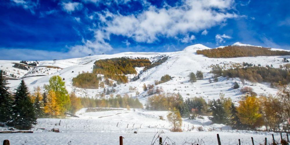 First winter snow